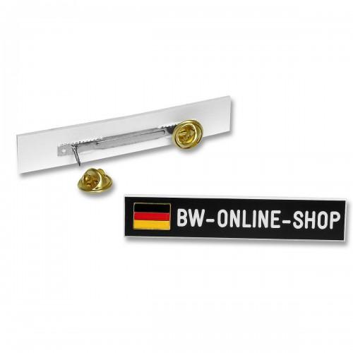 Namensschild Kunststoff Deutschlandfahne - schwarz