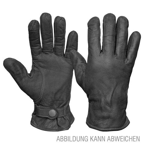 BW Lederhandschuhe gefüttert Original gebraucht - grau
