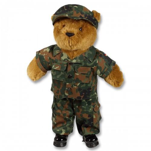 Mil-Tec Teddy gross mit Dienstbekleidung