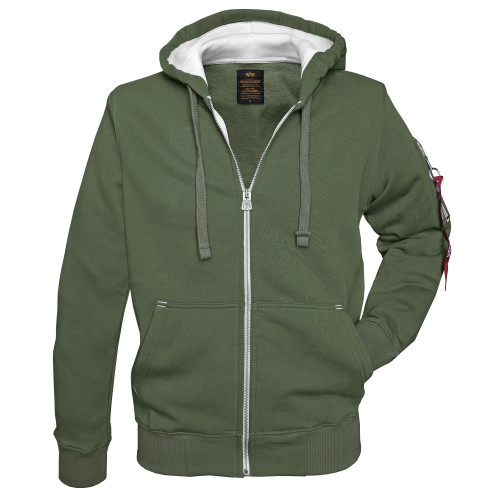 Alpha Industries Kapuzen Pullover Army Zip Hoody (Abverkauf)