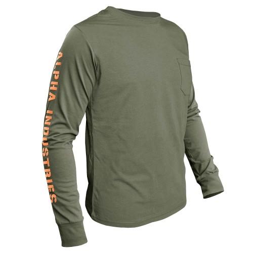Alpha Industries Sleeve Print LS Langarm Shirt (Abverkauf)