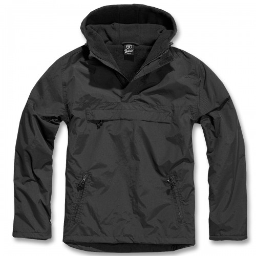 Brandit Hooded Windbreaker m. Fleecefutter