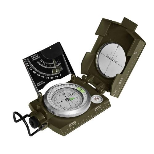 MFH Ital. Kompass Metallgehäuse oliv