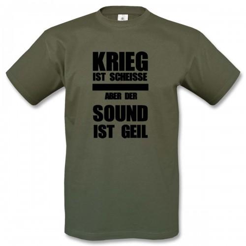 T-Shirt Motiv 2 - oliv/schwarz