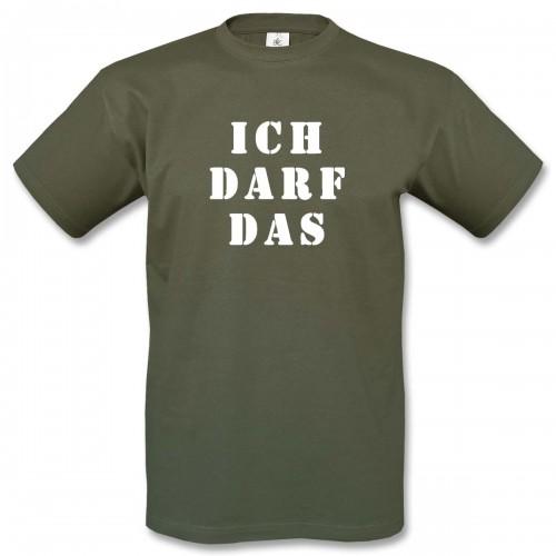 T-Shirt Motiv 16 - oliv/weiss