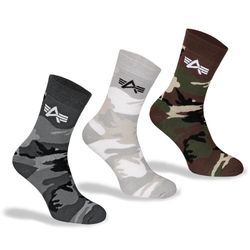 Alpha Industries Camo Socks Box
