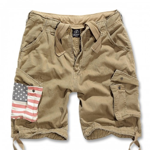 Urban Legend Shorts Stars and Stripes (Abverkauf) - beige