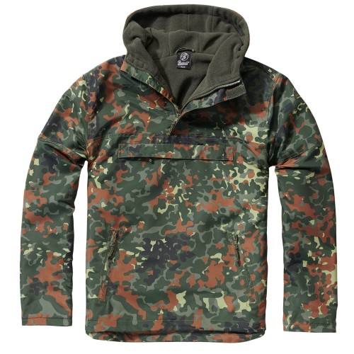 Brandit Hooded Windbreaker m. Fleecefutter (Sale)