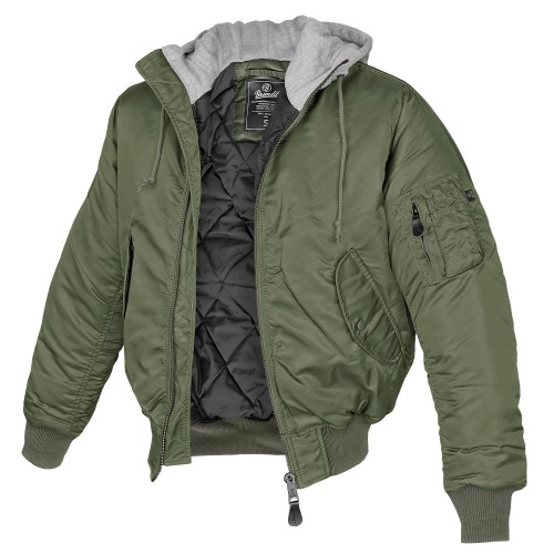 Brandit MA-1 Jacke Sweat Hooded