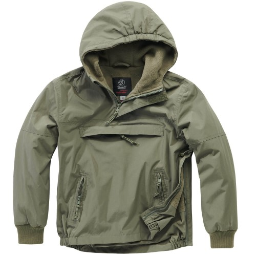 Brandit Kids Hooded Windbreaker m. Fleecefutter
