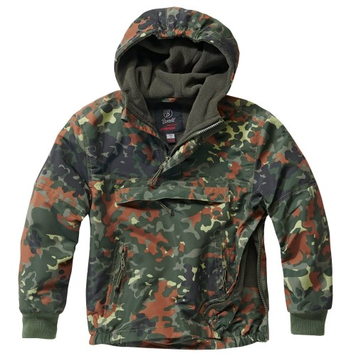 Brandit Kids Hooded Windbreaker m. Fleecefutter (Sale)