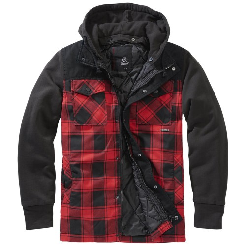 Brandit Jervis Checked Hooded Jacket (Sale)
