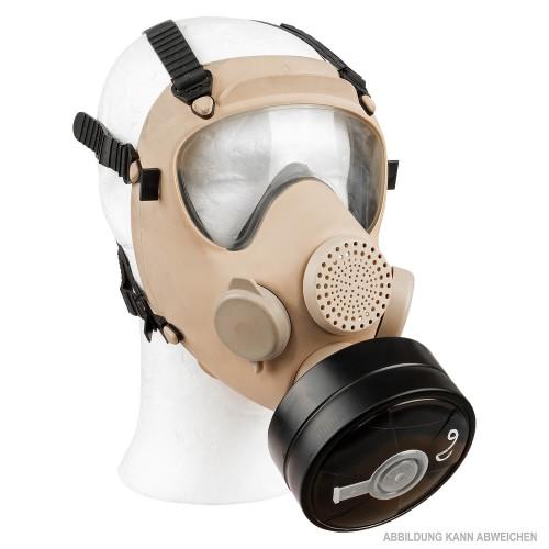 Poln. Schutzmaske MP5 mit Filter und Tasche khaki (Deko) neuwertig