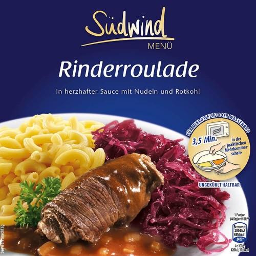 Fertiggericht Rinderroulade mit Nudeln und Rotkohl (Sale)