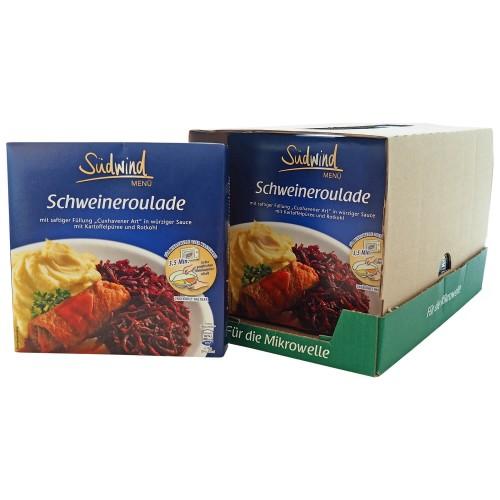 7er Pack Fertiggericht Schweineroulade mit Kartoffelpüree und Rotkohl (Sale)
