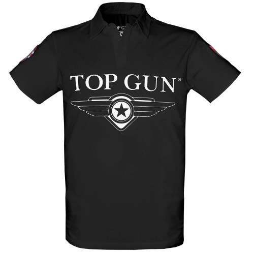 TOP GUN Polo T-Shirt Moon