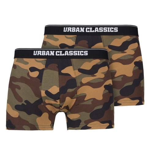 Urban Classics Camo Boxer Shorts 2er Pack