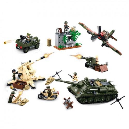 Sluban Kampf um Kursk WWII Bausteine Set M38-B0697