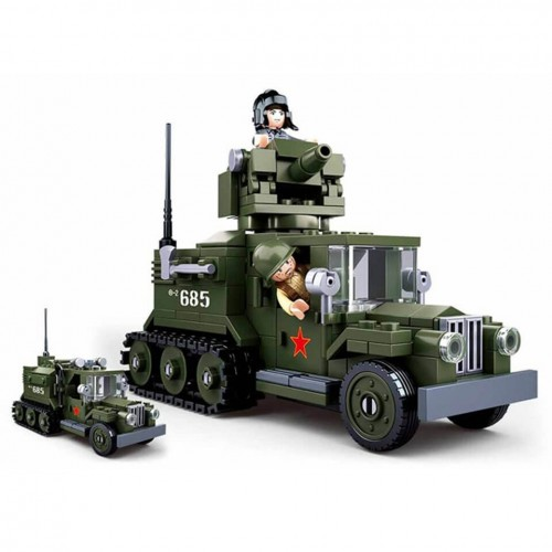 Sluban 2in1 Alliierte Half-Track WWII Bausteine Set M38-B0685