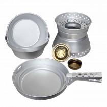Koch-Set Aluminium mit Kocher