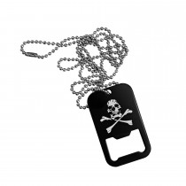 Dog Tag Bottle Opener Skull