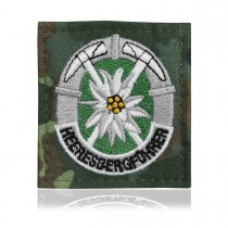 BW Abzeichen Textil Bergführer grau-unterlegt bunt