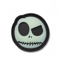 3-D Rubber Patch Big Nightmare Smiley black glow