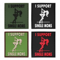 3-D Rubber Patch I support single Moms