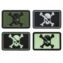 3-D Rubber Patch Pirate Skull (Sale)