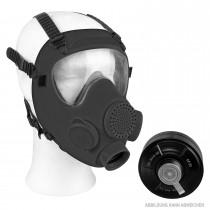 Poln. Schutzmaske MP5 mit Filter und Tasche schwarz (Deko) neuwertig