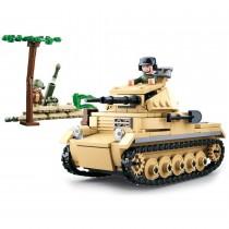 Kleiner Deutscher Panzer WWII Bausteine Set M38-B0691