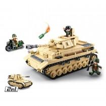 2in1 Deutscher Panzer WWII Bausteine Set M38-B0693