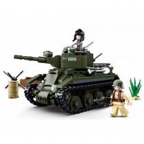Alliierter Kavallerie Panzer WWII Bausteine Set M38-B0686