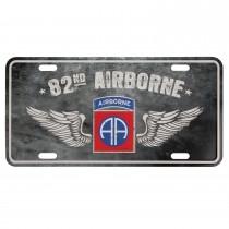 Nummernschild US Style mit Druck 82nd Airborne