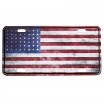 Nummernschild US Style mit Druck Flagge USA WWII
