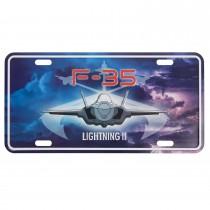 Nummernschild US Style mit Druck F-35 Lightning II