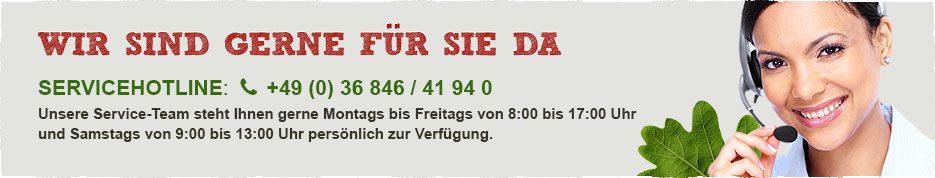 Servicehotline: +49 (0) 36 846 / 41 94 0